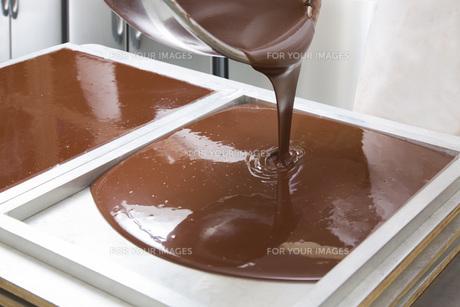 チョコレート作りの写真素材 [FYI00544881]