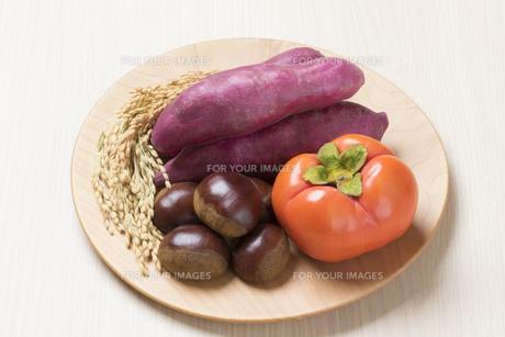 実りの秋食材の写真素材 [FYI00544970]