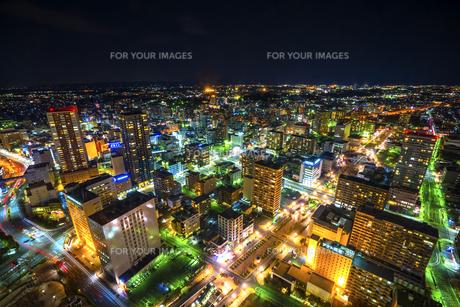 浜松駅周辺の夜景の写真素材 [FYI00545587]