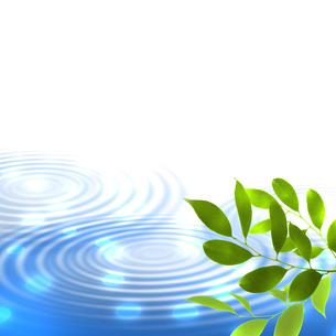 新緑 若葉 エコ 水面のイラスト素材 [FYI00545666]