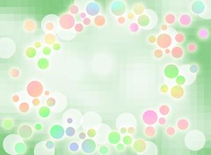 ランダムな水玉模様 コピースペースのイラスト素材 [FYI00546866]