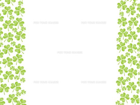 クローバー フレーム 三つ葉のイラスト素材 [FYI00547246]