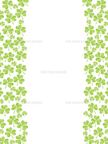 クローバー フレーム 三つ葉のイラスト素材 [FYI00547247]