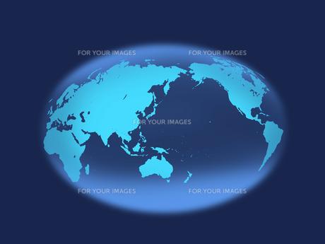 地球 世界地図 楕円形のイラスト素材 [FYI00547322]