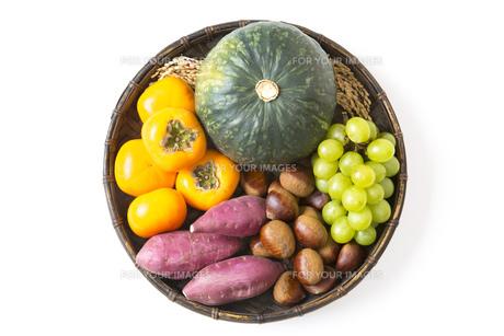 収穫の秋食材の写真素材 [FYI00547484]