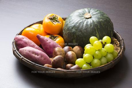 収穫の秋食材の写真素材 [FYI00547487]
