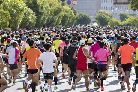 市民マラソンの写真素材 [FYI00551731]