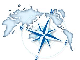 コンパス 世界地図 ビジネス経営のイラスト素材 [FYI00552407]
