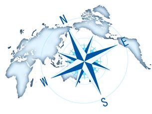 コンパス 世界地図 ビジネス経営のイラスト素材 [FYI00552408]