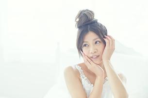 肌の綺麗な女性の写真素材 [FYI00559461]