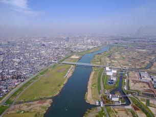 市川市の江戸川上空の写真素材 [FYI00560330]