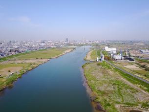 市川市の江戸川上空の写真素材 [FYI00560331]