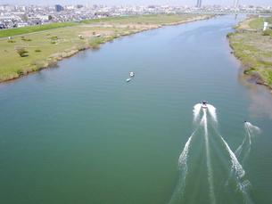 市川市の江戸川上空の写真素材 [FYI00560332]