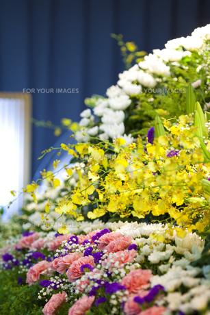 告別式の飾り花の写真素材 [FYI00564833]