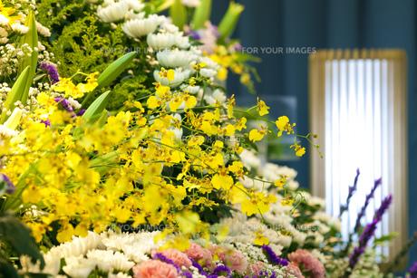 告別式の飾り花の写真素材 [FYI00564835]