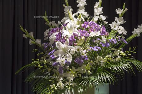 告別式の飾り花の写真素材 [FYI00564859]