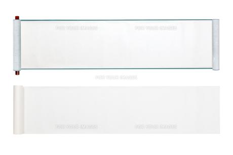 白紙の巻き物の写真素材 [FYI00567096]