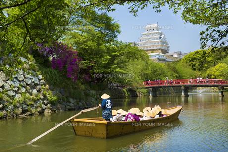 姫路城の遊覧船の写真素材 [FYI00569336]