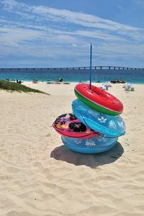 宮古島/夏の前浜リゾートビーチの写真素材 [FYI00571622]