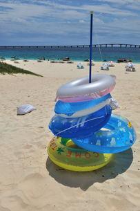 宮古島/夏の前浜リゾートビーチの写真素材 [FYI00571626]