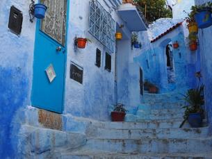 モロッコ シャウエンの町の写真素材 [FYI00571862]