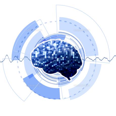 人工知能 AI 頭脳 テクノロジーのイラスト素材 [FYI00572074]