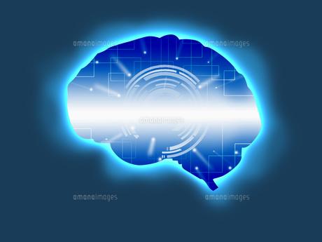 人工知能 AI 頭脳 テクノロジーのイラスト素材 [FYI00572077]