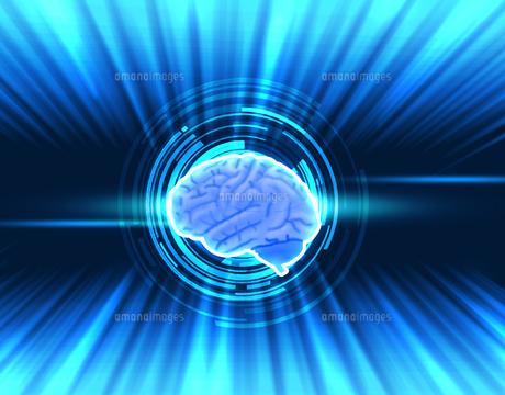 人工知能 AI 頭脳 テクノロジーのイラスト素材 [FYI00572078]