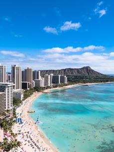 ハワイ ホノルル ワイキキビーチの写真素材 [FYI00580528]