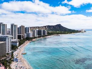 ハワイ ホノルル ワイキキビーチの写真素材 [FYI00580530]