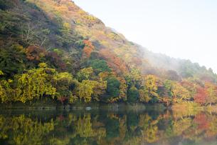 秋の京都嵐山渓谷の写真素材 [FYI00582833]