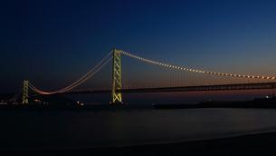 明石海峡大橋 夜景の写真素材 [FYI00583097]