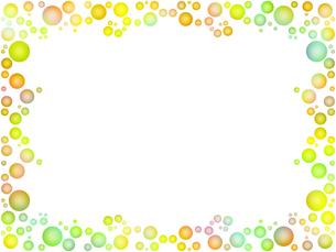 水玉模様のフレームのイラスト素材 [FYI00593949]