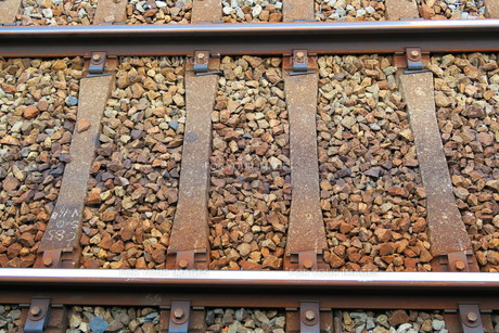 鉄道の線路と枕木の写真素材 [FYI00596129]