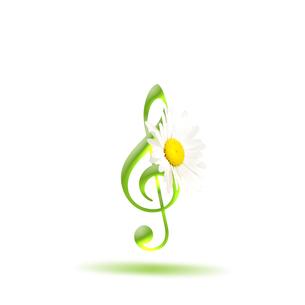 音楽 譜面 花 ミュージックのイラスト素材 [FYI00598566]