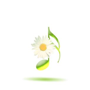 音楽 譜面 花 ミュージックのイラスト素材 [FYI00598568]