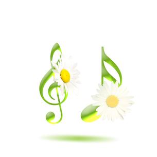 音楽 譜面 花 ミュージックのイラスト素材 [FYI00598569]