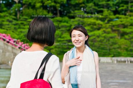 会話する女性二人の素材 [FYI00603548]