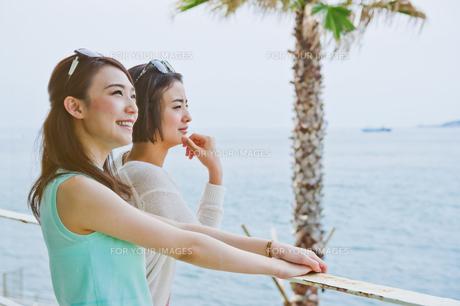 海を眺める女性の素材 [FYI00603860]
