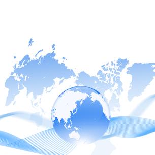 ビジネス 世界地図 日本地図 取引 グローバルのイラスト素材 [FYI00604057]