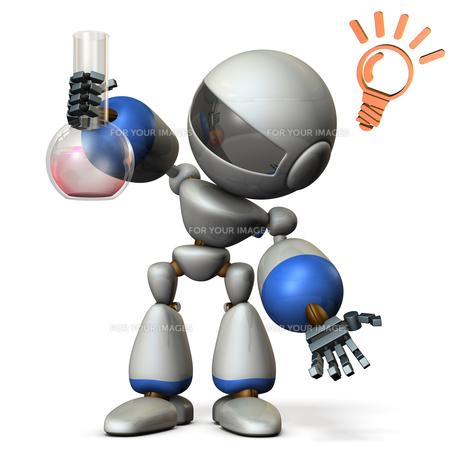 新しい発見をするロボットのイラスト素材 [FYI00604739]