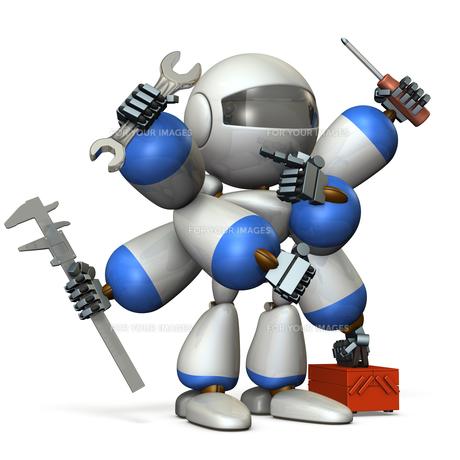 工具を持ったロボットのイラスト素材 [FYI00604741]
