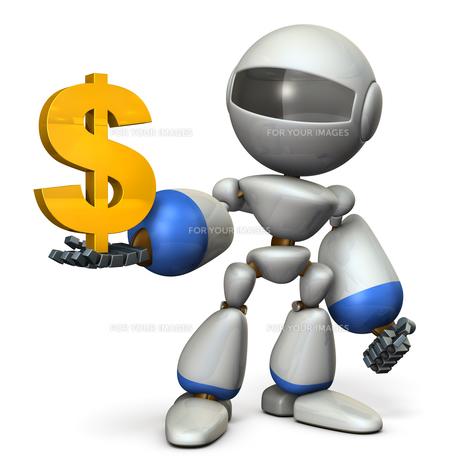 お金を管理するロボットのイラスト素材 [FYI00604744]