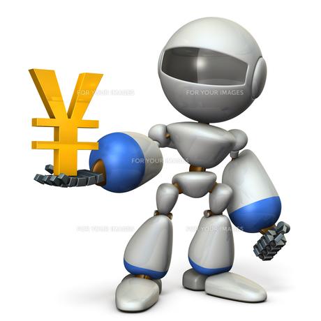 お金を管理するロボットのイラスト素材 [FYI00604745]