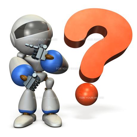 悩み思考するロボットのイラスト素材 [FYI00604746]