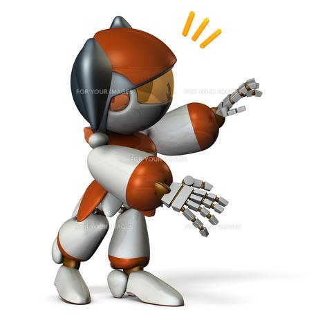 声をかけるロボットのイラスト素材 [FYI00604749]