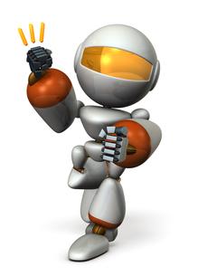 拳を構えるロボットのイラスト素材 [FYI00604756]