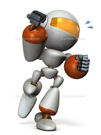 走るロボットのイラスト素材 [FYI00604757]