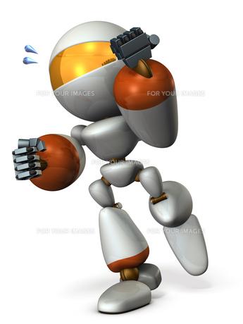 走るロボットのイラスト素材 [FYI00604758]