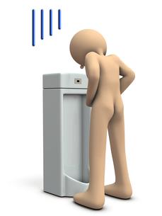 トイレでミスをする男性のイラスト素材 [FYI00604770]
